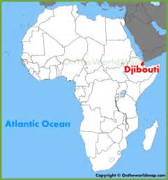Djibouti Africa Map by Djibouti Location On The Africa Map