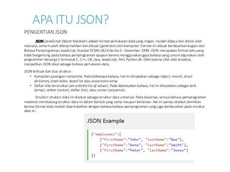 format json adalah tugas 2 rekayasa web 1412510016