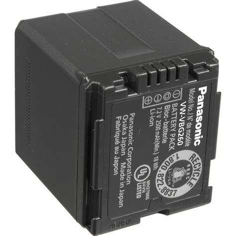 Battery Panasonic Vbg 260 panasonic vw vbg260ppk 7 2v 2 64ah lithium ion battery pack