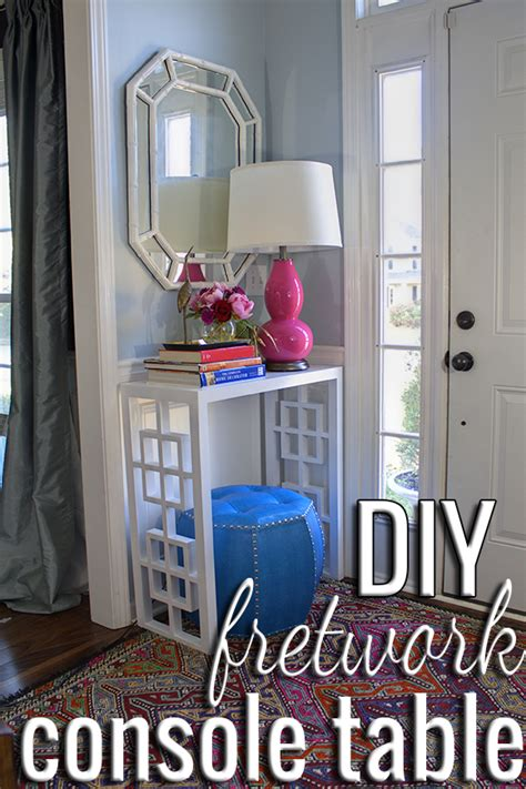 make your own sofa table diy making your own console table plans free
