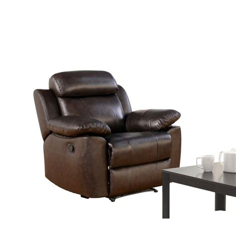 abbyson recliner abbyson living brody top grain leather recliner in brown
