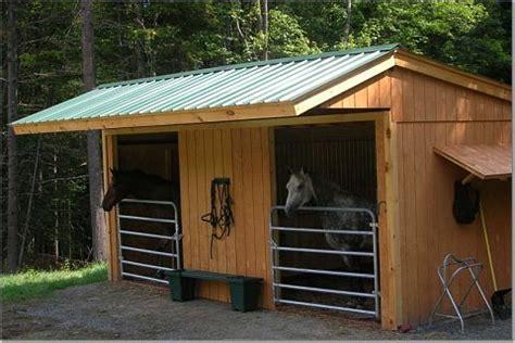 Two Stall Horse Barn Maverick Style Stall Building Frame 772 Klene Pipe