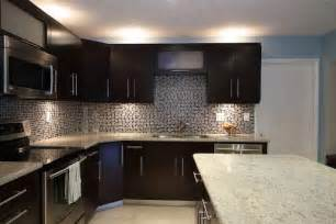 Kitchen Backsplash With Dark Cabinets Dark Kitchen Cabinets Backsplash Ideas The Interior