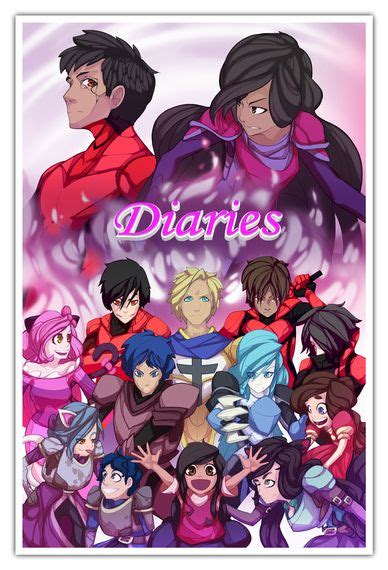 anime t shirts anime gifts art posters more aphmau s 174 official diaries poster minecraft anime