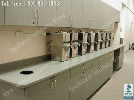 commercial kitchen furniture breakroom movable millwork cabinets modular lounge