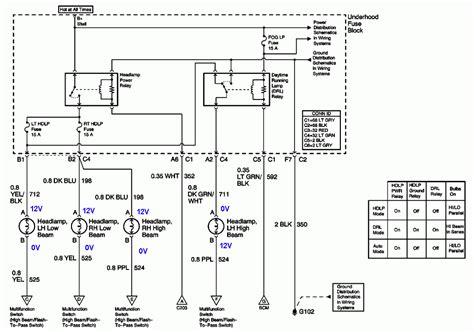 2001 chevy silverado headlight wiring diagram 2001 chevy
