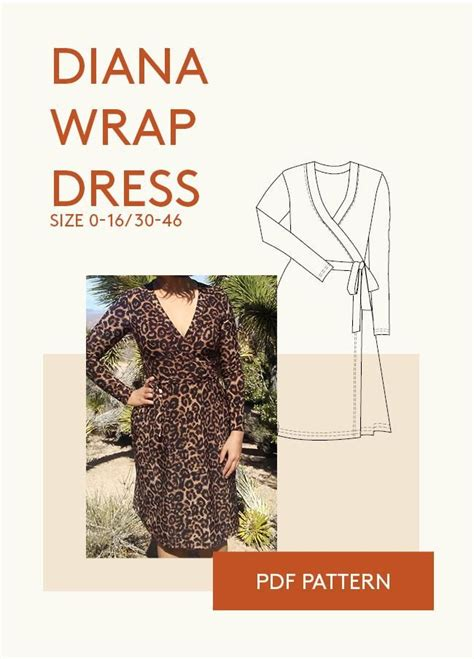 jersey pattern pdf 58 best jersey wrap dress pdf sewing pattern images on