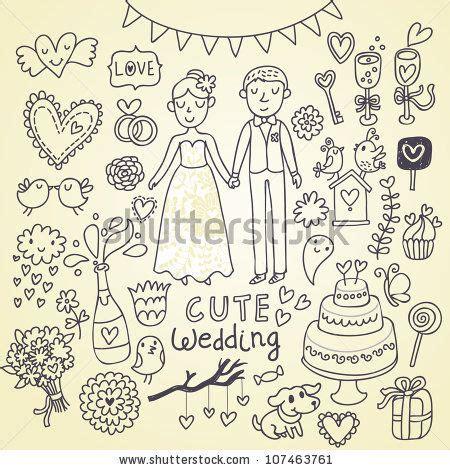 Wedding Doodle by Wedding Doodle Sketchy Vector Illustration 107463761