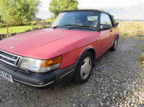 saab convertible red saab 1992 900 s convertible red car for sale