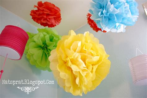 Make Tissue Paper Flowers - natsprat tissue paper flower tutorial