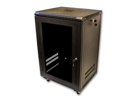15u wall mount cabinet server network rack glass door