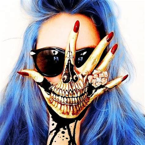 hand tattoo makeup outlaw from vapeorenda golden hand skull the wigs