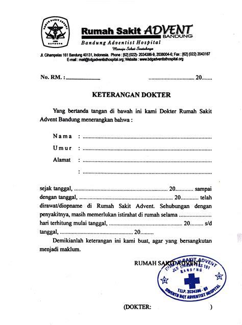 format surat pernyataan sakit contoh surat rasmi dan tidak rasmi contoh 36