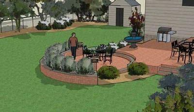 landscape design patio square footage
