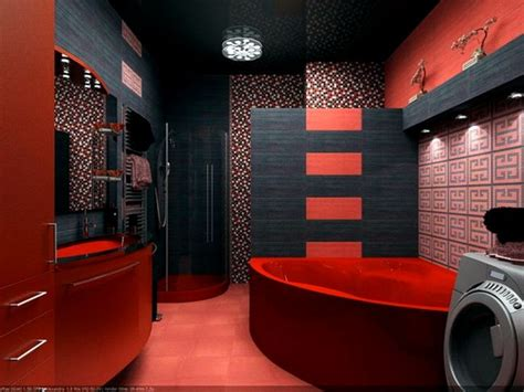 dark red bathroom red white bathroom courageous decision for your interior
