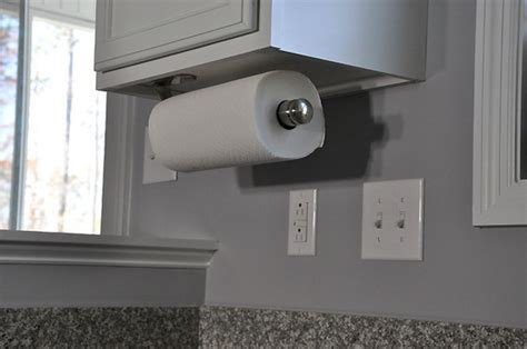 under cabinet mount paper towel holder out of sight or on display where do you keep your paper