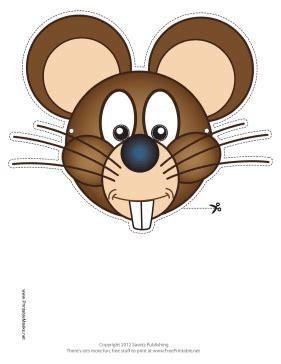 printable rat mask printable mouse mask mask