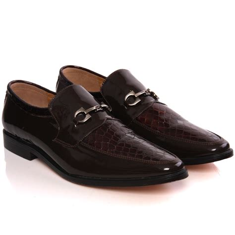 unze mens kande leather slipons dress formal shoes uk size