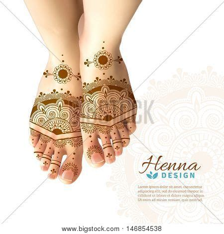 henna design posters bride feet coloring indian henna vector photo bigstock
