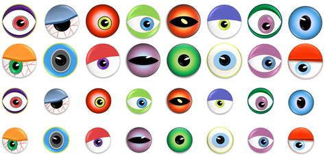 free printable eyes picture monster eyes halloween candy treats the life of the party