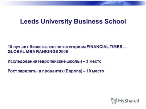 The Financial Times Global Mba Rankings by International Business Financial Times International