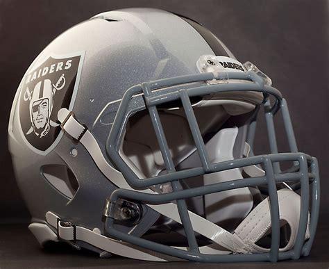 Decorative Football Helmets by Custom Oakland Raiders Nfl Riddell Revolution Speed Football Helmet Ebay