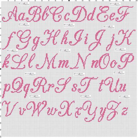 lettere punto croce in corsivo pin di mariagrazia su punto croce punto