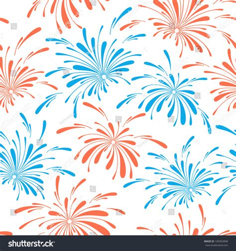 seamless pattern fireworks seamless pattern of holiday fireworks vector illustration