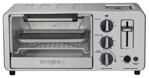 Built In Toaster Waring Pro 1500 Watt Toaster Oven With Built In Pop Up