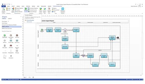 bpmn visio template exles of marketing problems