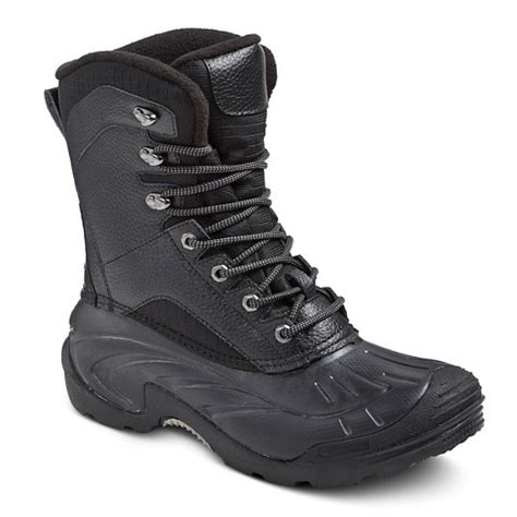 target snow boots mens s winter boots merona black