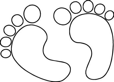 Baby Footprints Coloring Pages | footprints coloring page coloring pages ideas reviews