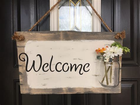 Welcome Signs For Door by Front Door Welcome Sign Front Porch Welcome Sign By