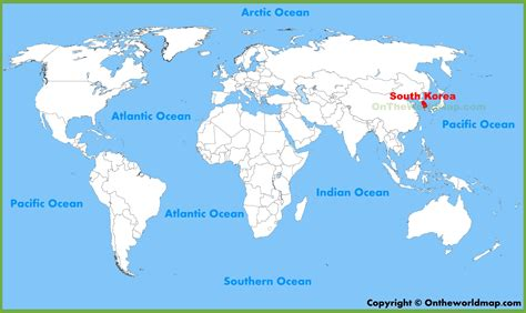 where is south korea on the map south korea location on the world map