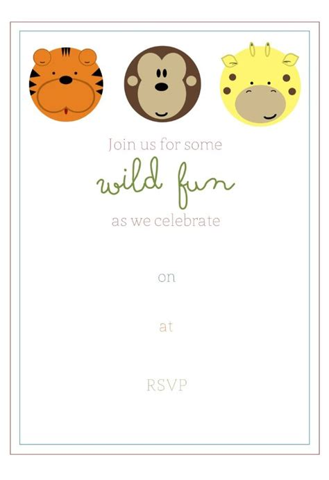 jungle invitation template best 25 safari invitations