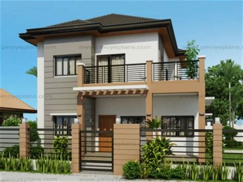Two Bedroom Apartment Floor Plans by Two Storey House Plans Pinoy Eplans Modern House