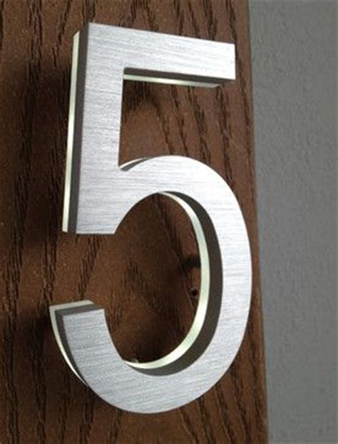 Individual Steel Pin 14 02mm modern house number led address sign modern house