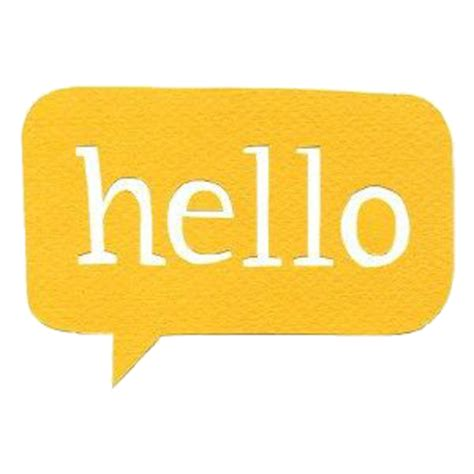 Hello Yellow by Edited By C Freedom Yellow Hello Free Images At Clker