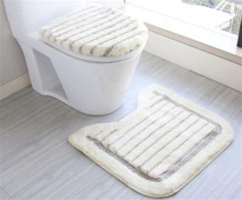 bathroom cushion floor free shipping bathroom soft plush toilet 3 set