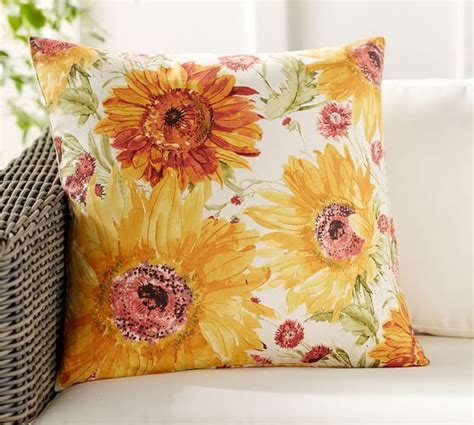 sunflower rug pottery barn watercolor sunflower pillow cover pottery barn