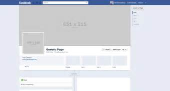 Best photos of facebook page template 2015 blank facebook profile