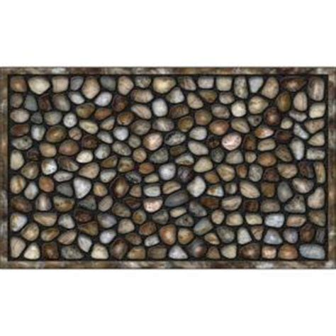 Recycled Door Mat by Apache Mills River Rocks 18 In X 30 In Recycled Rubber