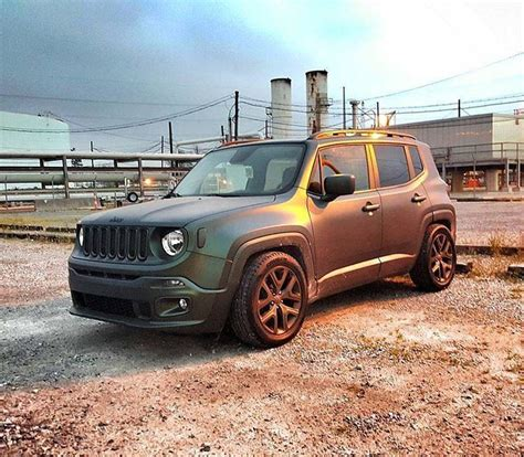 lowered jeep has anyone here lowered their renegade toasterjeep