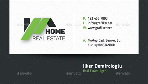 real estate business cards templates free real estate business card templates by grafilker02
