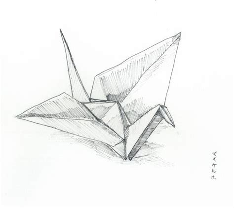 Origami Crane Drawing - do you need japanese origami paper to fold origami