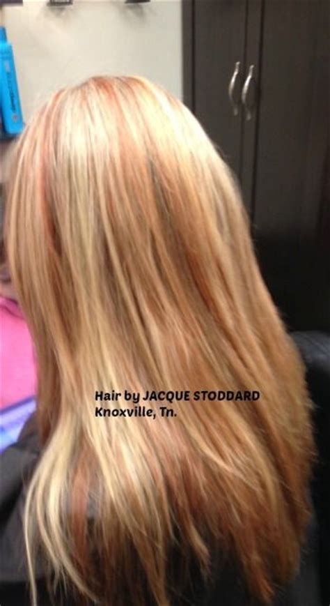 copper lowlights for short blonde hair pinterest