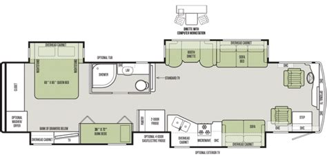 best rv floor plans 12 must see rv bunkhouse floorplans general rv center