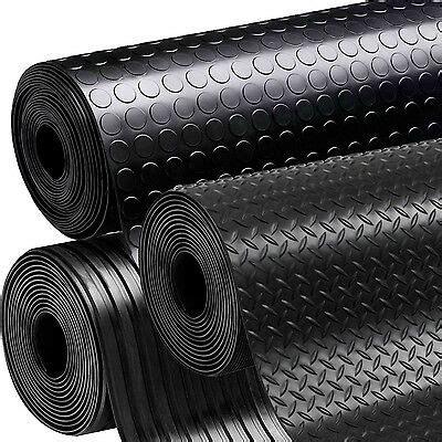 black anti slip shed van garage workshop rubber flooring
