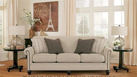 milari linen sofa reviews milari linen rayon sofa from ashley 1300038 coleman
