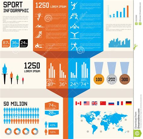 sports infographics templates sport infographic set stock vector illustration of